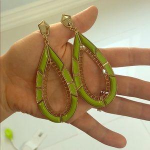 Jewelry - Green statement earrings